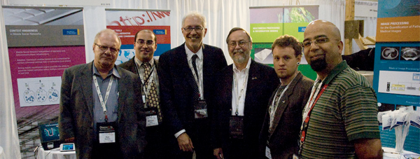 Pictured from left to right: Ron Rankine, Michael Dick, Sheldon Levy (Ryerson University President), Dr. Michael Murphy, Michael Lawrie, and Many Ayromlou.